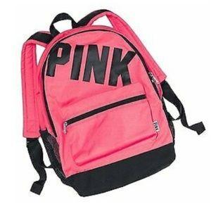 PINK Victoria's Secret Bags - Victoria's Secret PINK Logo Neon Campus Backpack